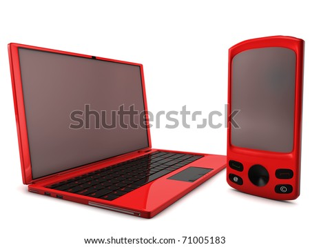 A bundle of two main telecommunication services - stock photo