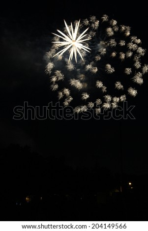 a burst of fireworks