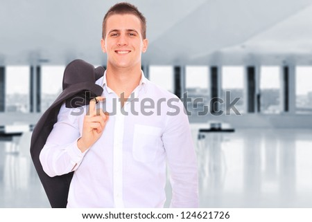 A Business man at the office - stock photo