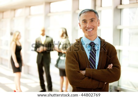 A business man with a big smile - stock photo