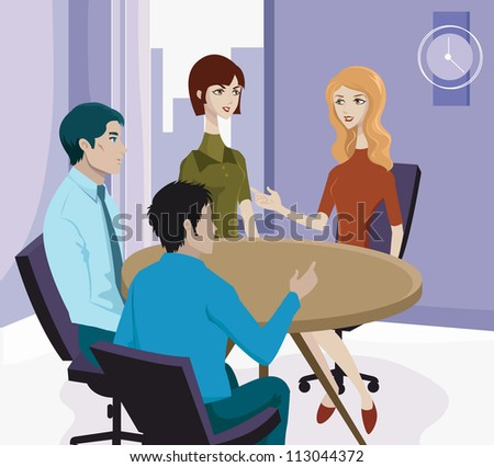 A business meeting - stock photo