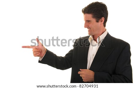 A businessman in casual dress gives a confident sign of approval to a co-worker on his job. - stock photo