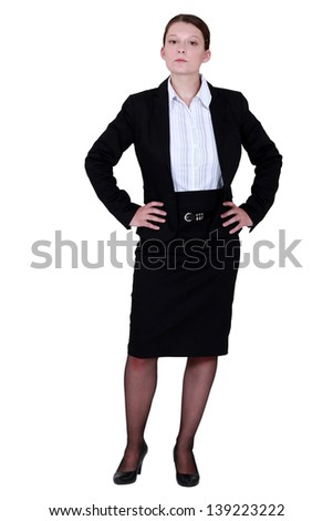 A businesswoman. - stock photo
