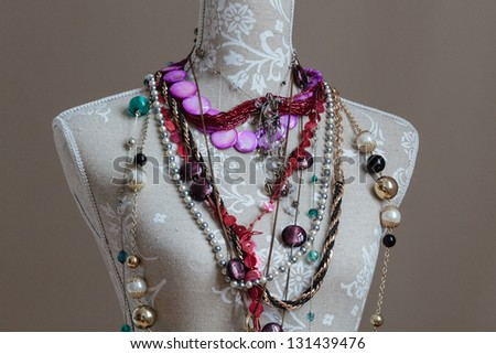 A bust for necklaces and other jewellery - stock photo