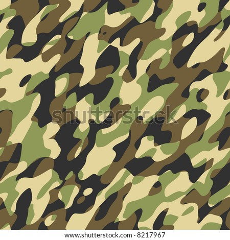 A camouflage pattern that will tile seamlessly - stock photo