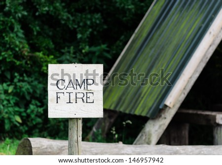 A 'Camp Fire' sign - stock photo