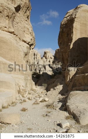 A canyon near Petra in Jordan - stock photo