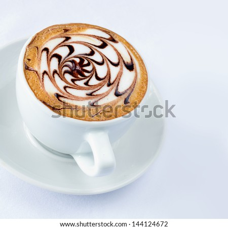 A cappuccino, is an Italian coffee drink which is traditionally prepared with espresso, hot milk, and steamed-milk foam