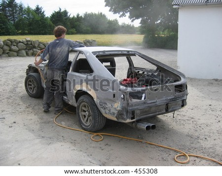 A car made ready for painting