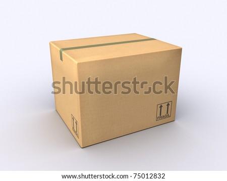 A Cardboard Box - stock photo