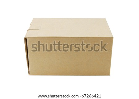 A cardboard box isolated on white background.