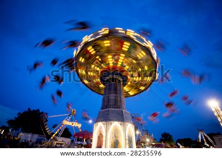 A carnival ride - stock photo