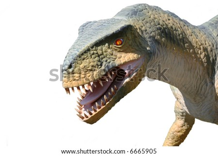 A carnivorous dinosaur isolated on white