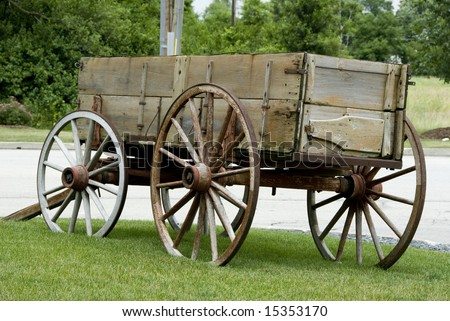 A carriage on the side of the road. - stock photo