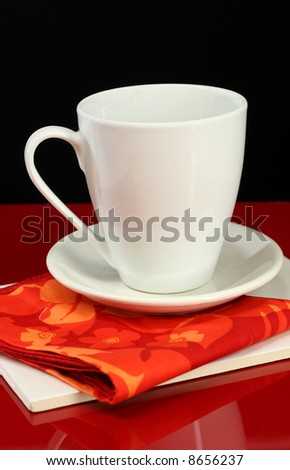 A catalog home decor photo of a coffee mug in bright colors - stock photo