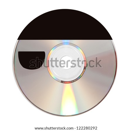 a cd  shaped like a pirate isolated in white background - stock photo