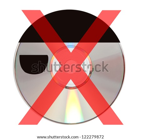 a cd  shaped like a pirate with a inappropriate symbol - stock photo