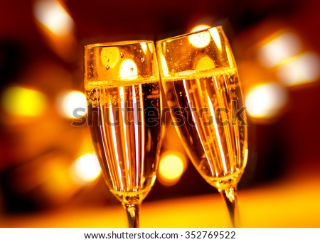 A celebration toasting with champagne - stock photo