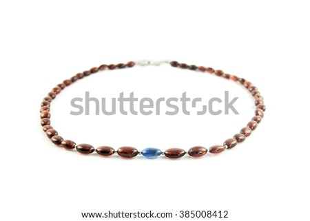 a chain with pearls for the necklace - stock photo