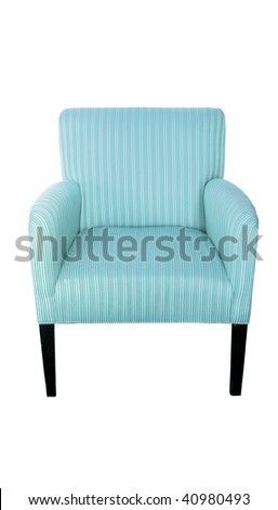 a chair isolated on white - stock photo