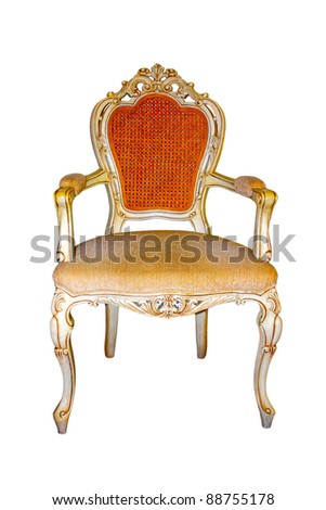 a chair on the white background - stock photo