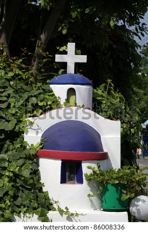 A charming little chapel in the Zia. Kos Island , Greece - stock photo