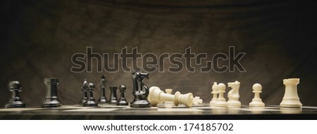 A Chess Game - stock photo