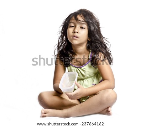 A child beggar - stock photo