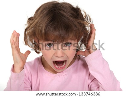 A child screaming - stock photo