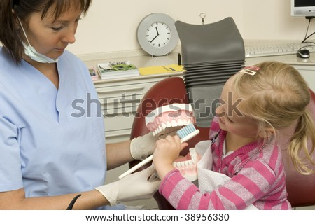 A child with the dentist