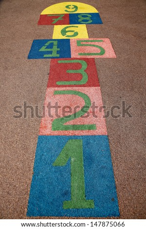 a children game in a school - stock photo