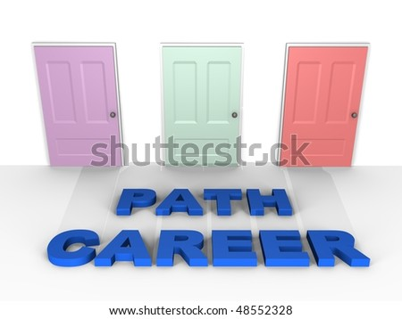 A choice for your career - a 3d image - stock photo