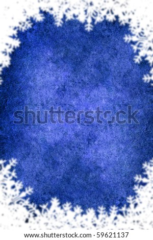 A Christmas blue frame with white border