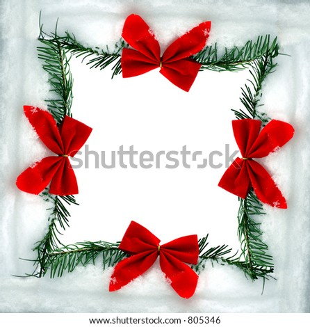 a christmas bow - stock photo