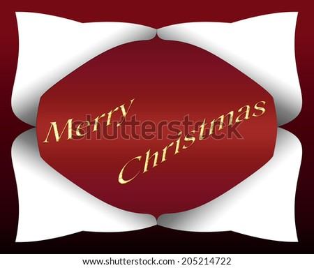 a christmas card on a red background