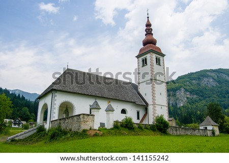 A church deep within Slovenia, Europe
