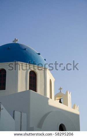 a church in santorini, greek island
