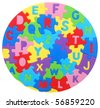 A circle letter puzzle - stock photo