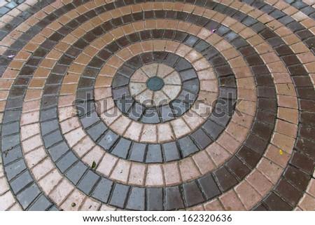 A circle shaped footpath - stock photo
