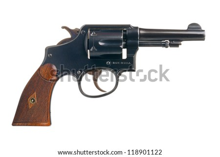 A classic American revolver in .38 Special. - stock photo