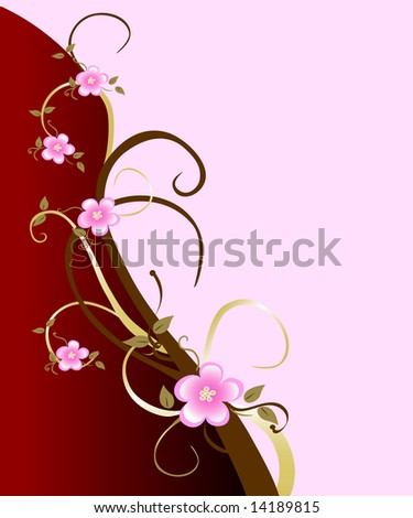 A classic spring background starring the pink cherry blossom. Great for mothers day or valentines. - stock photo