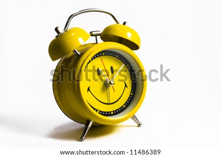 A clock on white background - stock photo