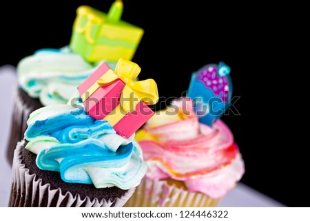 A close up cup cake decoration - stock photo