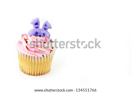 A close up cup cake decoration
