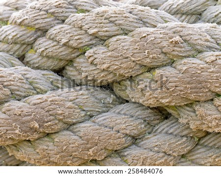 A close-up image of ropes. - stock photo