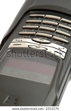 A close up of a mobile phone. - stock photo