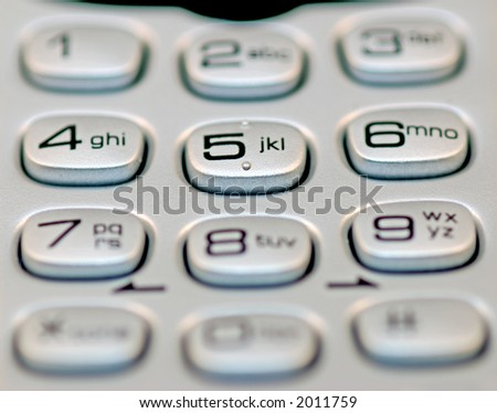 a close up of a phone keypad - stock photo