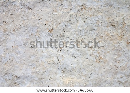 A close-up of an aged whitewashed wall