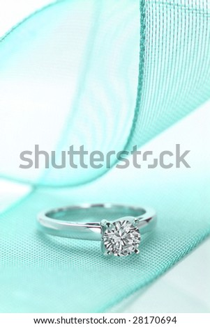 A close up of Diamond ring-H. - stock photo