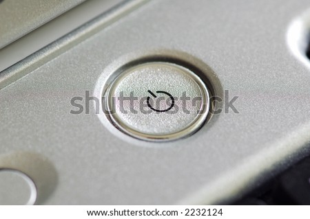A close up of power on-off button - stock photo